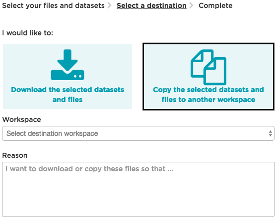 Airlock – Copying data between workspaces, grabbed on 20.09.17, using XAP version 1.19.10 3847-4df4b, from https://analytixagility.aridhia.net/#/workspaces/508/datasets/10568