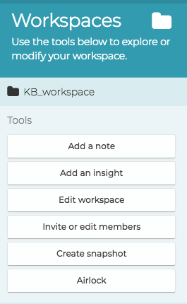 workspaces tools, grabbed on 03.04.18, using XAP version 1.19.12 4375-796a171cd, from https://researchapp.analytixagility.com/#/workspaces/373